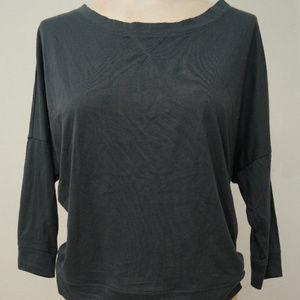 Banana Republic Shirt Top Gray 3/4 Sleeves